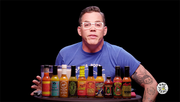 Steve-O Dumps Hot Sauce Into His Eye During 'Hot Ones'