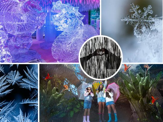 Cool things to do with kids in Dubai over summer: 9 Places where you'll find ice, rain and snow in the UAE