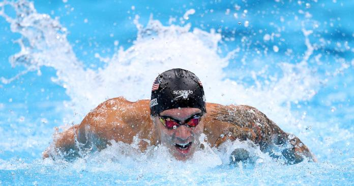 Caeleb Dressel sets another Olympic record in 100 meter Butterfly semi-final