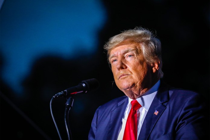 Former President Donald Trump at a rally in Sarasota, Florida on July 3, 2021.