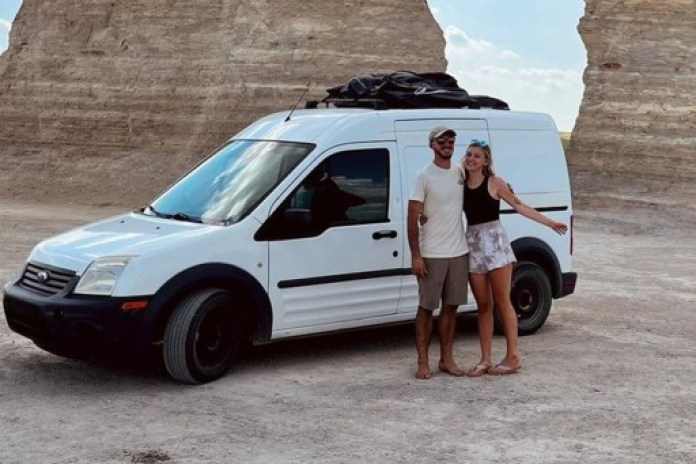 The couple's account on The Dyrt features photos of their travels and of Laundrie's Ford Transit van.
