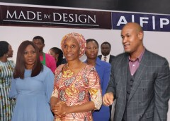 VP OSINBAJO'S WIFE VISITS, COMMENDS JULIUS BERGER AFP'S EXCELLENT FURNITURE QUALITY AT MADE-BY-DESIGN EXHIBITION.