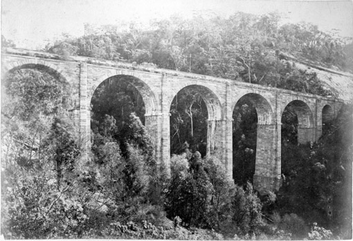 Knapsack Gully Viaduct 1890s