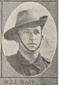 H.J.J. Holt one of the soldiers photographed in The Queenslander Pictorial supplement to The Queenslander 1916