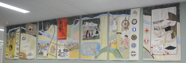 Pioneer Women of the Penrith Area - composed of seven panels, designed by Marie Morris, completed in 1996