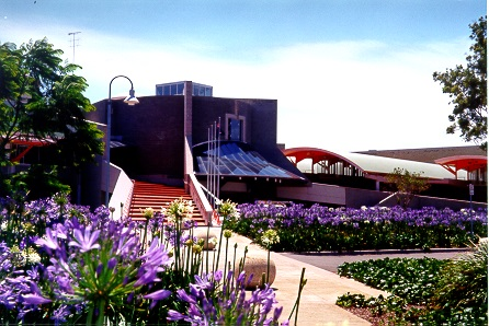 civic centre with flowers