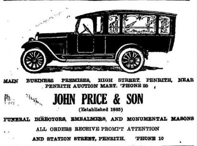 Price advert 1930