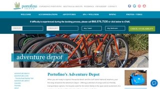 Portofino Island Resort Adventure Depot