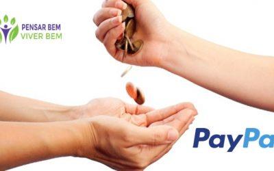 Doação via PAYPAL para o projeto Pensar Bem Viver Bem