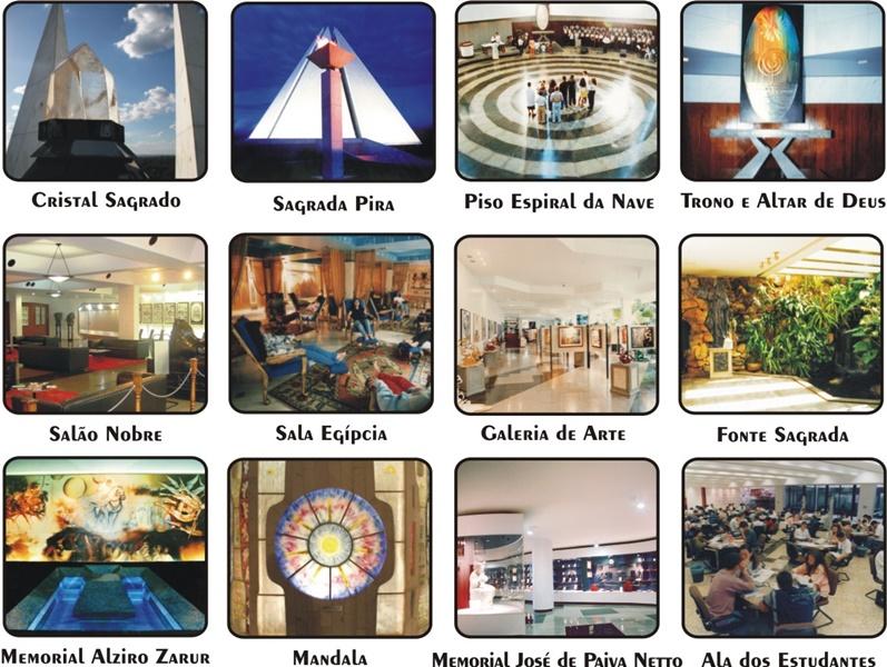 Ambiente que reproduz o antigo Egito é destinado à prece e meditação