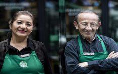 Inclusão Starbucks inaugura loja totalmente operada por pessoas da terceira idade