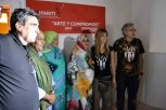 Inauguración Artifariti Jadiya Hamdi,Ministra de Cultura, Fernando Peraita director de Artifariti e Isidro López AparicioComisario de los encuentros.