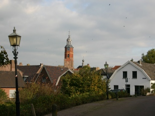 Het mooie plaatsje Buren met zijn kerk