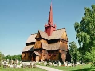 Staafkerk in Ringebu