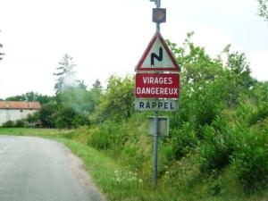 Panneau Virages Dangereux