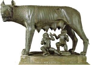 Louve romaine - Rémus et Romulus