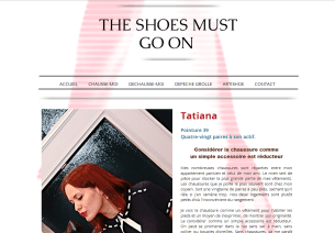 Interview sur le blog The Shoes Must Go On