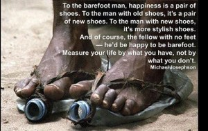 Citation de Michael Josephson: The barefoot man