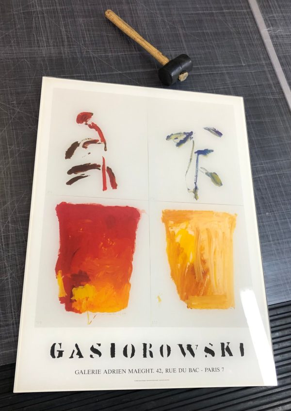 Gérard GASIOROWSKI en verre feuilleté