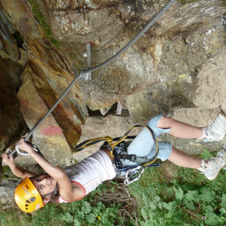 Klettersteig mit Kinder