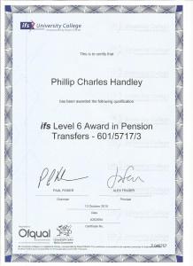 Level 6 Pension transfers