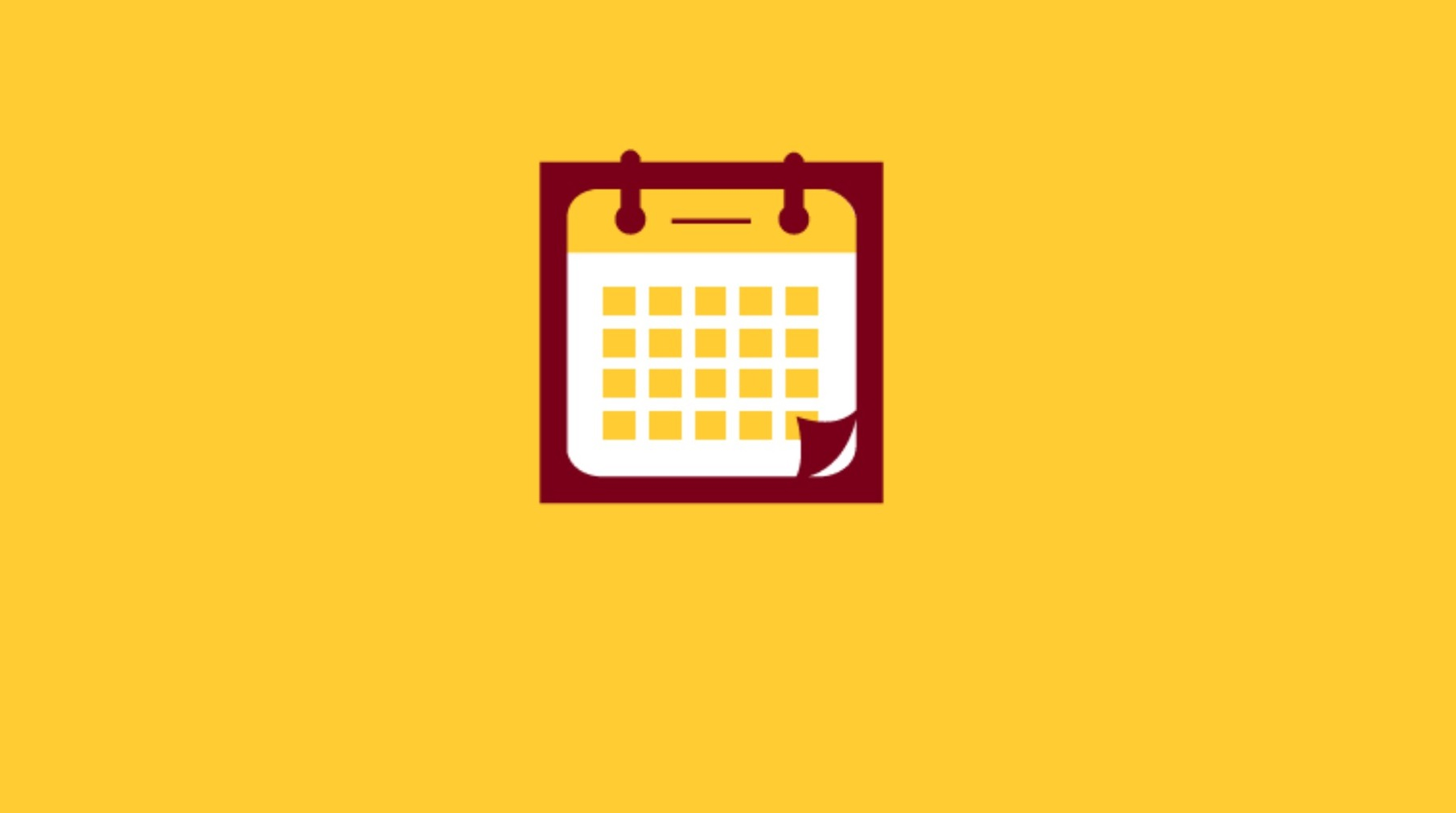 Maroon and gold calendar icon