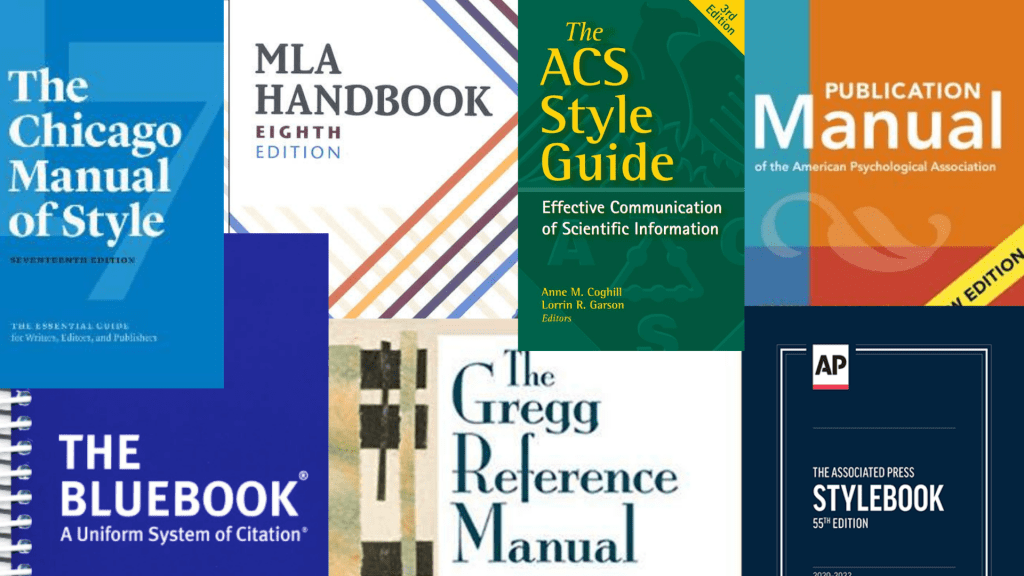 Various style manuals