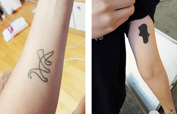 Temporary Tattoos in Hongdae