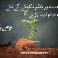 نظم ۔۔۔ شاہین کاظمی
