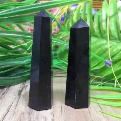 Кристалл-обелиск черный агат