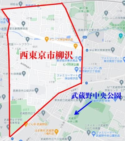 コムドット 西東京市 地元 公園