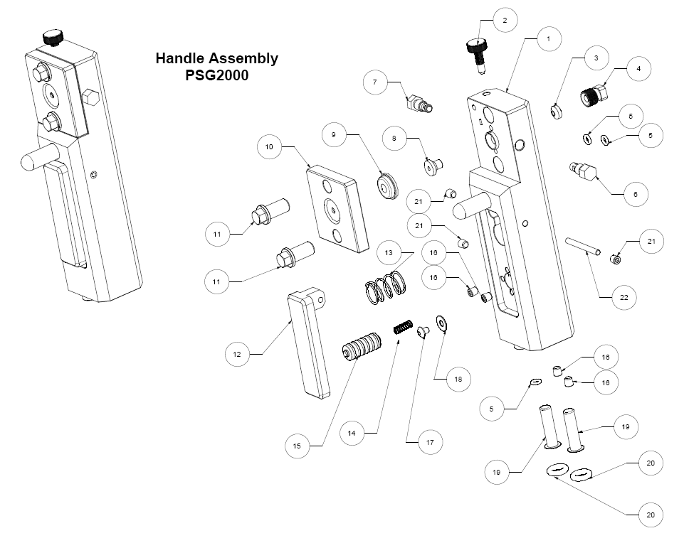 PSG2000 Handle Assemblyt