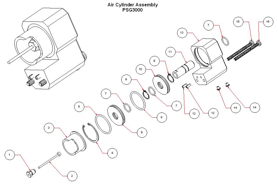 PSG3000 Air Cylinder Assemblyt