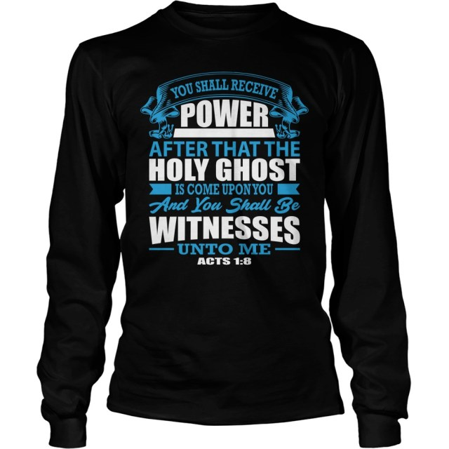 45261eef You Shall Receive Power Christian Tee | Pentecostal Tees