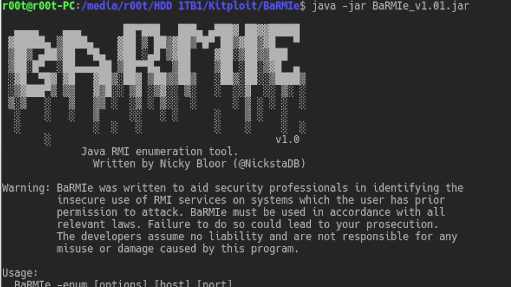 BaRMIe - Java RMI Enumeration And Attack Tool – PentestTools
