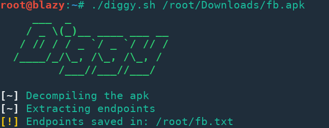 Diggy - Extract Endpoints From APK Files – PentestTools