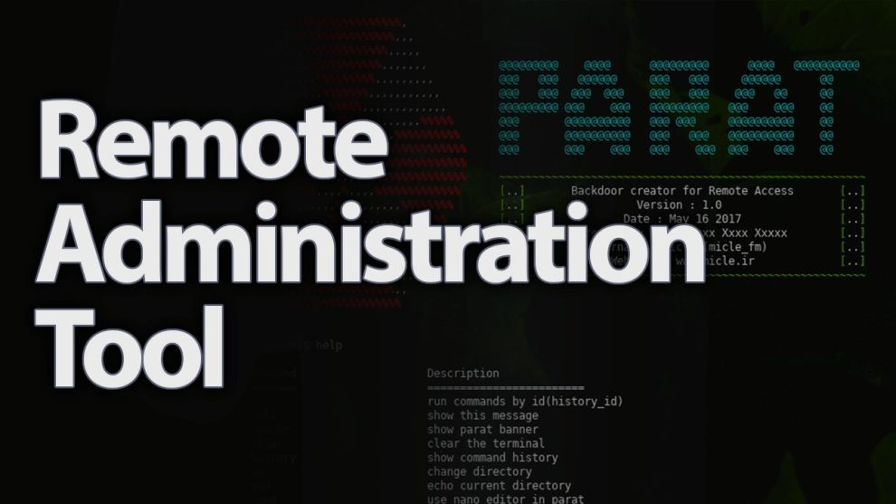 Parat - Undetectable Python Payloads - Remote Administration Tool