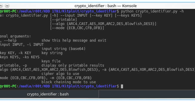 Crypto Identifier - Tool To Uncipher Data Using Multiple Algorithms And Block Chaining Modes