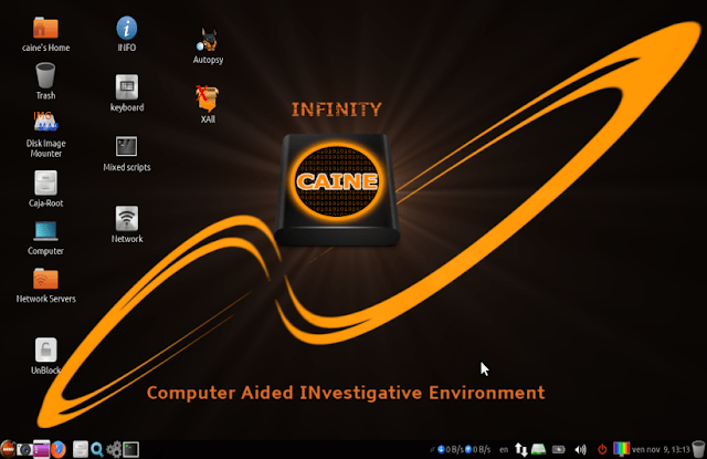 CAINE 10.0 - GNU/Linux Live Distribution For Digital Forensics Project, Windows Side Forensics And Incident Response