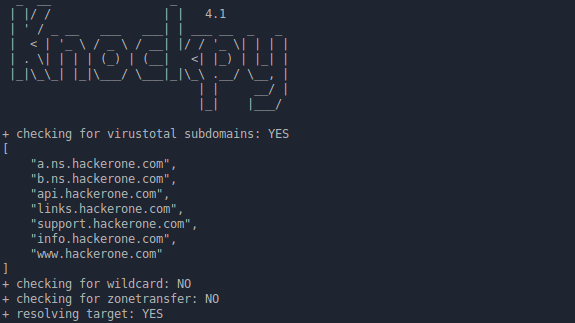 Knock v.4.1.1 - Subdomain Scan