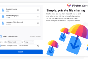 firefox send encrypted file sharing service
