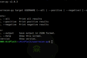 Userrecon-Py v2.0 - Username Recognition On Various Websites