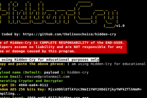 Hidden-Cry - Windows Crypter/Decrypter Generator With AES 256 Bits Key