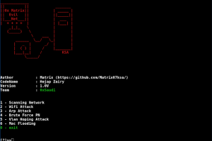 EvilNet - Network Attack Wifi Attack Vlan Attack Arp Attack Mac Attack Attack Revealed Etc...