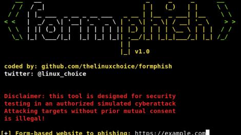 Formphish - Auto Phishing Form-Based Websites