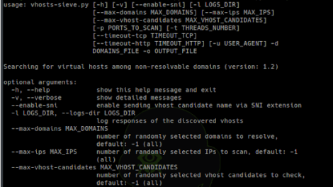Vhosts-Sieve - Searching For Virtual Hosts Among Non-Resolvable Domains