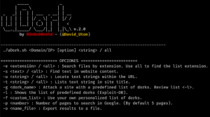 uDork - Tool That Uses Advanced Google Search Techniques To Obtain Sensitive Information In Files Or Directories, Find IoT Devices, Detect Versions Of Web Applications, And So On