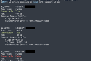 Bluescan - A Powerful Bluetooth Scanner For Scanning BR/LE Devices, LMP, SDP, GATT And Vulnerabilities!