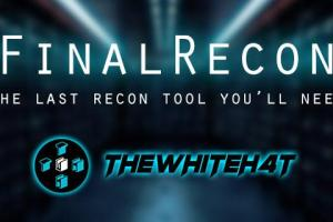 FinalRecon v1.1.0 - The Last Web Recon Tool You'll Need