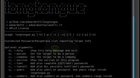 Longtongue - Customized Password/Passphrase List Inputting Target Info